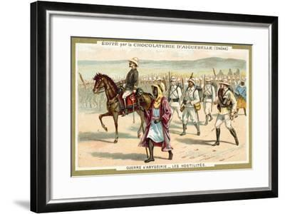 Italian Troops on the March, First Italo-Ethiopian War, 1896--Framed Giclee Print