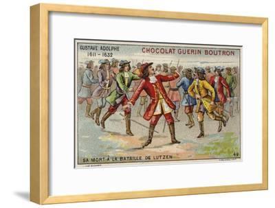 Death of Gustavus Adolphus, King of Sweden, at the Battle of Lutzen--Framed Giclee Print