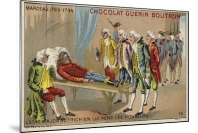 Officers of the Austrian Staff Saluting the Body of General Marceau--Mounted Giclee Print