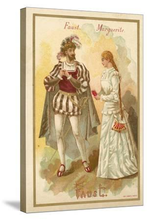 Faust and Margurite, from Charles Gounod's Opera Faust--Stretched Canvas Print