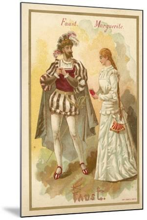 Faust and Margurite, from Charles Gounod's Opera Faust--Mounted Giclee Print