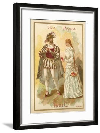 Faust and Margurite, from Charles Gounod's Opera Faust--Framed Giclee Print