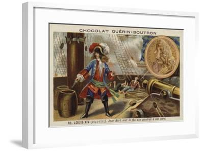 Jean Bart Setting Fire to Gunpowder on Board His Ship, 17th Century--Framed Giclee Print