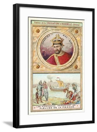 Charles Ii, and the Normans Sailing Up the Rivers of France--Framed Giclee Print