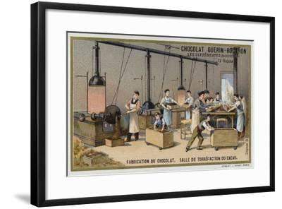 Chocolate Manufacturing, Cocoa Roasting Room--Framed Giclee Print