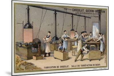 Chocolate Manufacturing, Cocoa Roasting Room--Mounted Giclee Print