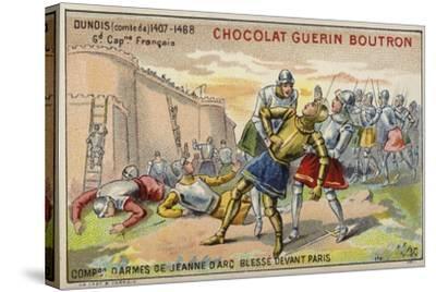 Jean D'Orleans, Comte De Dunois, Wounded before the Walls of Paris--Stretched Canvas Print