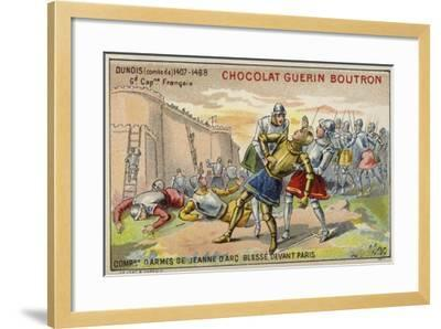 Jean D'Orleans, Comte De Dunois, Wounded before the Walls of Paris--Framed Giclee Print