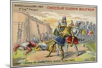 Jean D'Orleans, Comte De Dunois, Wounded before the Walls of Paris--Mounted Giclee Print