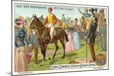 At the Racecourse: the Winner--Mounted Giclee Print
