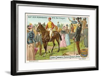 At the Racecourse: the Winner--Framed Giclee Print