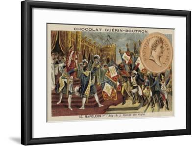 Napoleon and the Distribution of the Eagle Standards, 1804--Framed Giclee Print