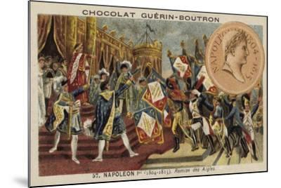 Napoleon and the Distribution of the Eagle Standards, 1804--Mounted Giclee Print