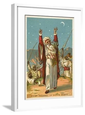 An Ulama Preaching Jihad--Framed Giclee Print