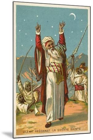 An Ulama Preaching Jihad--Mounted Giclee Print