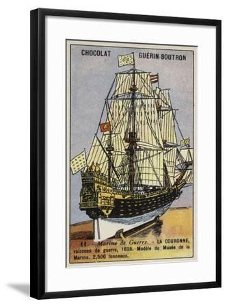 French Warship Couronne, 1638--Framed Giclee Print