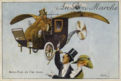 Aero-Taxi in the Year, 2000--Framed Giclee Print