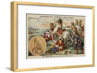 The Death of Marshal Turenne, 1675--Framed Giclee Print
