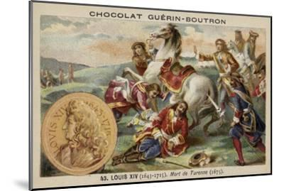 The Death of Marshal Turenne, 1675--Mounted Giclee Print