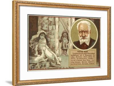 Victor Hugo, French Author--Framed Giclee Print
