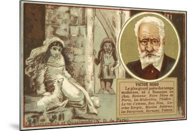 Victor Hugo, French Author--Mounted Giclee Print