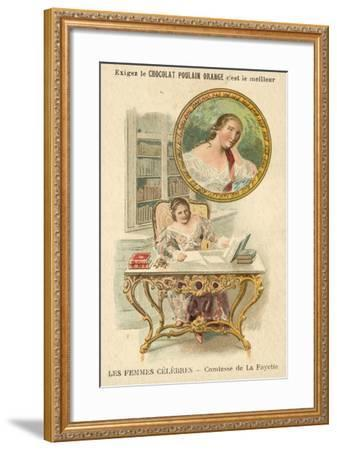 The Countess De La Fayette, French Author--Framed Giclee Print