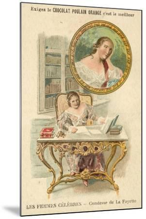 The Countess De La Fayette, French Author--Mounted Giclee Print