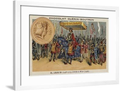 Louis XII of France Entering Milan, 1499--Framed Giclee Print