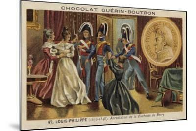 Arrest of the Duchess of Berry, 1832--Mounted Giclee Print