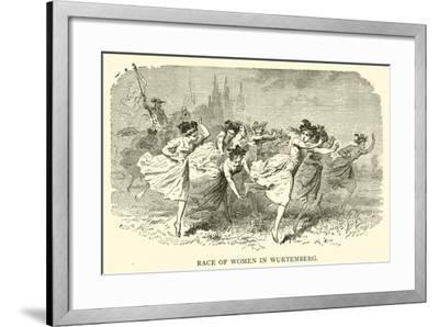 Race of Women in Wurtemberg--Framed Giclee Print