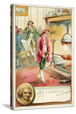 Jean Jacques Rousseau, Swiss Philosopher--Stretched Canvas Print