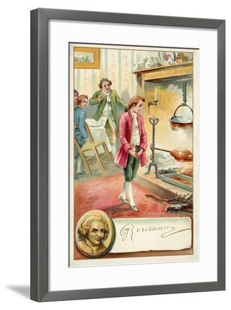 Jean Jacques Rousseau, Swiss Philosopher--Framed Giclee Print