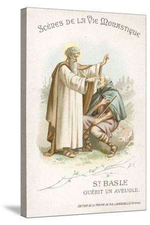 St Basle Curing a Blind Man--Stretched Canvas Print