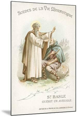 St Basle Curing a Blind Man--Mounted Giclee Print