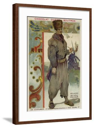 Dutch Fisherman, 17th Century--Framed Giclee Print