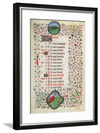 Ms 19 June: Cancer and a Man Reaping--Framed Giclee Print