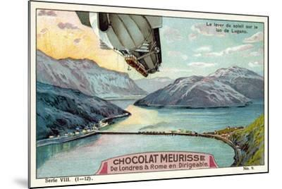 Sunrise over Lake Lugano--Mounted Giclee Print