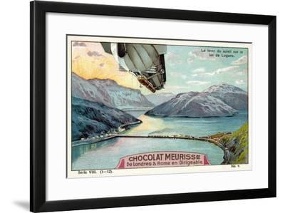 Sunrise over Lake Lugano--Framed Giclee Print