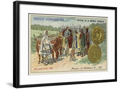 Coins of Childebert Iii, 702--Framed Giclee Print