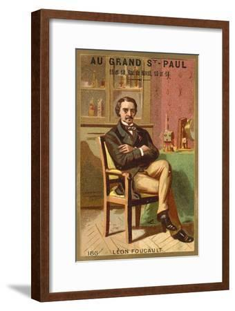 Leon Foucault, French Physicist--Framed Giclee Print