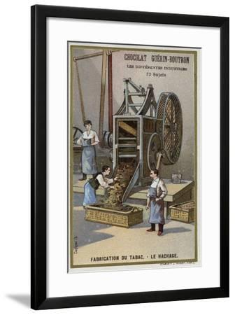Tobacco Manufacturing. Shredding Leaves--Framed Giclee Print