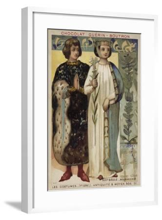 Bourgeois Costume, 13th Century--Framed Giclee Print