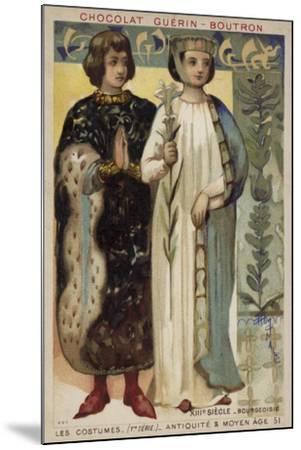 Bourgeois Costume, 13th Century--Mounted Giclee Print