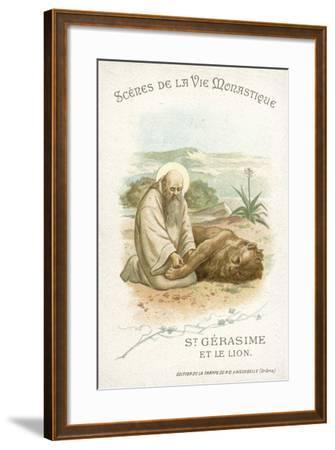 St Gerasimus and the Lion--Framed Giclee Print
