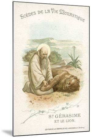 St Gerasimus and the Lion--Mounted Giclee Print