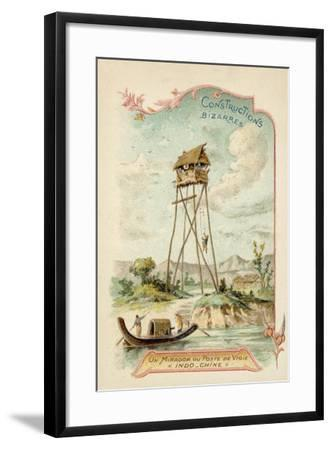 Observation Tower, Indochina--Framed Giclee Print