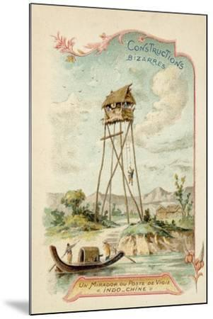 Observation Tower, Indochina--Mounted Giclee Print