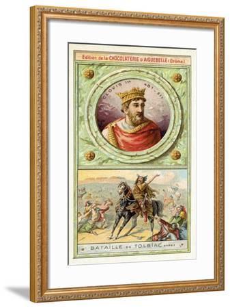 Clovis I at the Battle of Tolbiac, 496--Framed Giclee Print