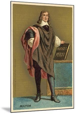 John Milton, English Poet--Mounted Giclee Print