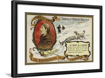 The Monks of the Hospice of St Bernard--Framed Giclee Print